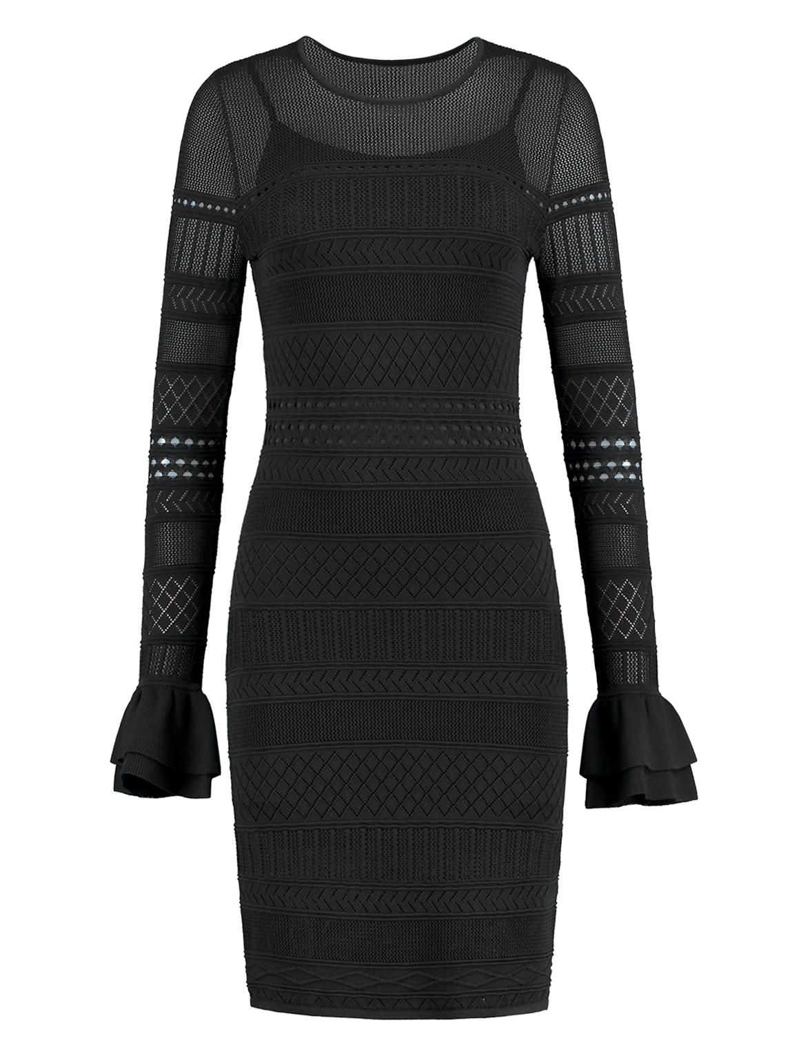 Zwarte dames jurk Nikkie Jolida Dress - N7-691 1901 9000