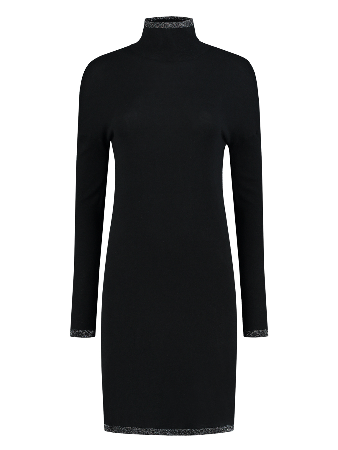 Zwarte dames jurk met col Nikkie Jessa Turtle Neck Dress - N7-783 1901 9000