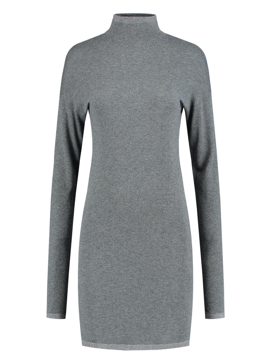 Grijze dames jurk met col Nikkie Jessa Turtle Neck Dress - N7-783 1901 9050