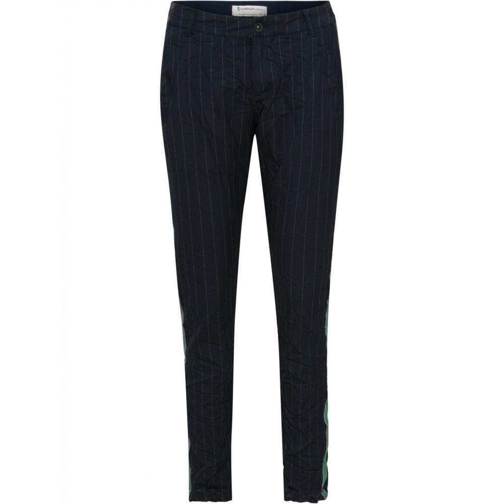 Blauwe dames broek met witte krijtstreep Summum - 4S1616-10691