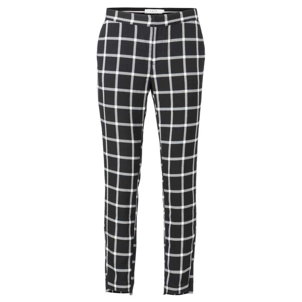 Zwart/wit geruite dames broek YAYA - 121105-823