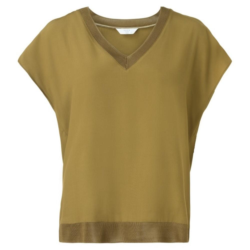 Groene dames top met V-hals YAYA - 190152-823