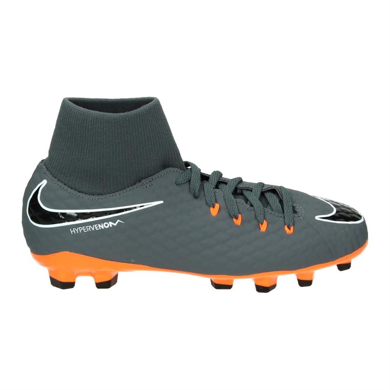 Grijs Oranje Voetbalschoen Nike  PHANTOM 3 ACADEMY DF FG JR - AH7287