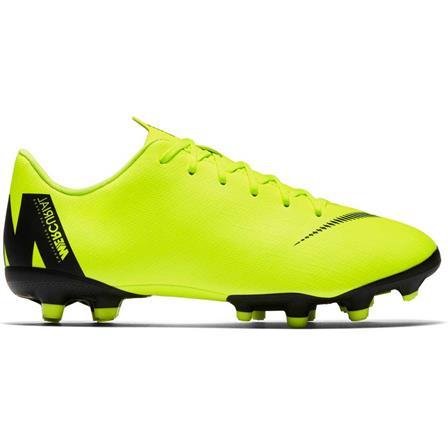 Neon gele kinder voetbalschoenen Nike Vapor 12 Academy GS FG/MG - AH7347 701