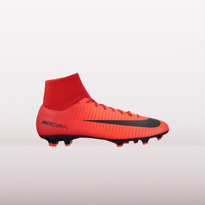 Rood zwarte Voetbalschoenen Nike Mercurial Vicotry DF FG -903609