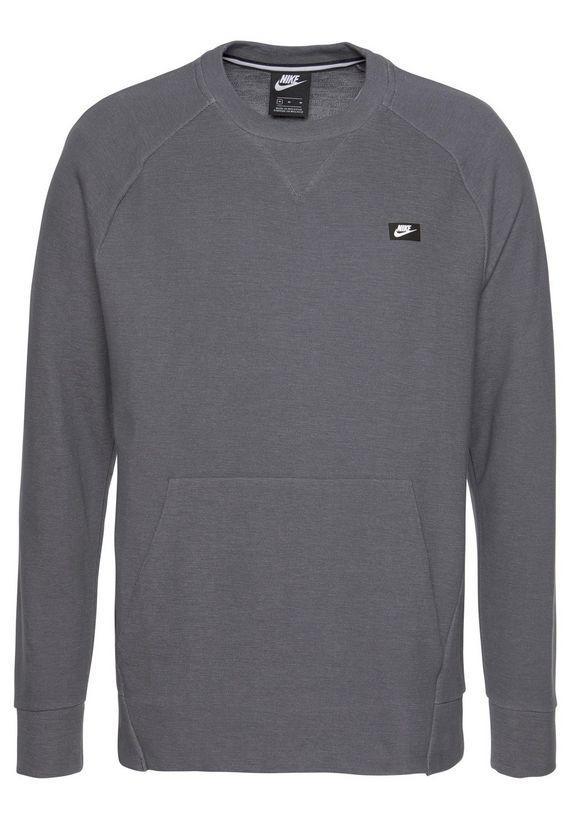 Grijze heren trui Nike NSW Optic Sweater - 928465 021