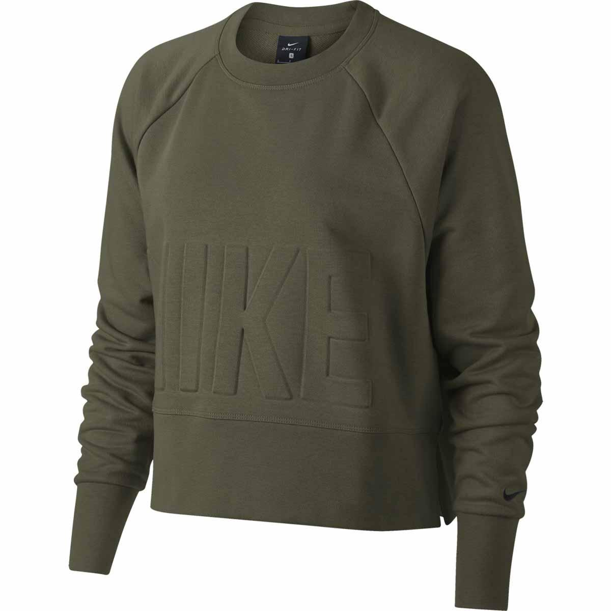 Groene dames trui Nike - AH8436 WNK TOP VERSA CREW TOP