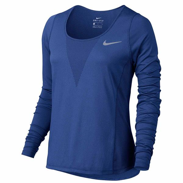Blauwe dames sport top zonal cooling Nike - 831514