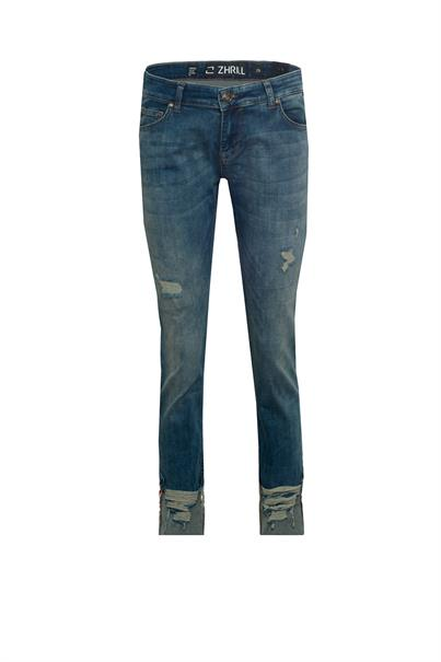 Donkerblauwe dames jeans Zhrill - D518284-W7293