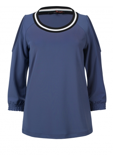 Blauwe dames top Dept - 31101142