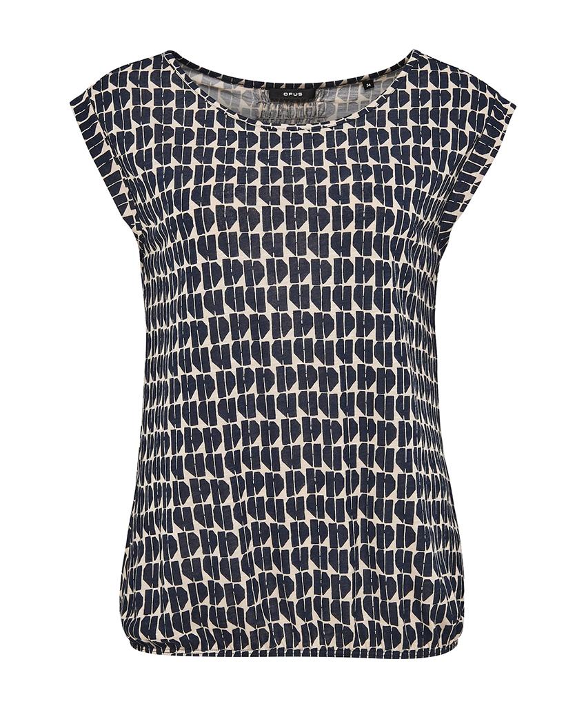 Zwart wit dames blouse top - Opus strolchi abstract- 3046