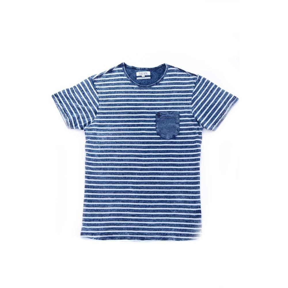 Blauw gestreept heren shirt Pearly King - Yankee