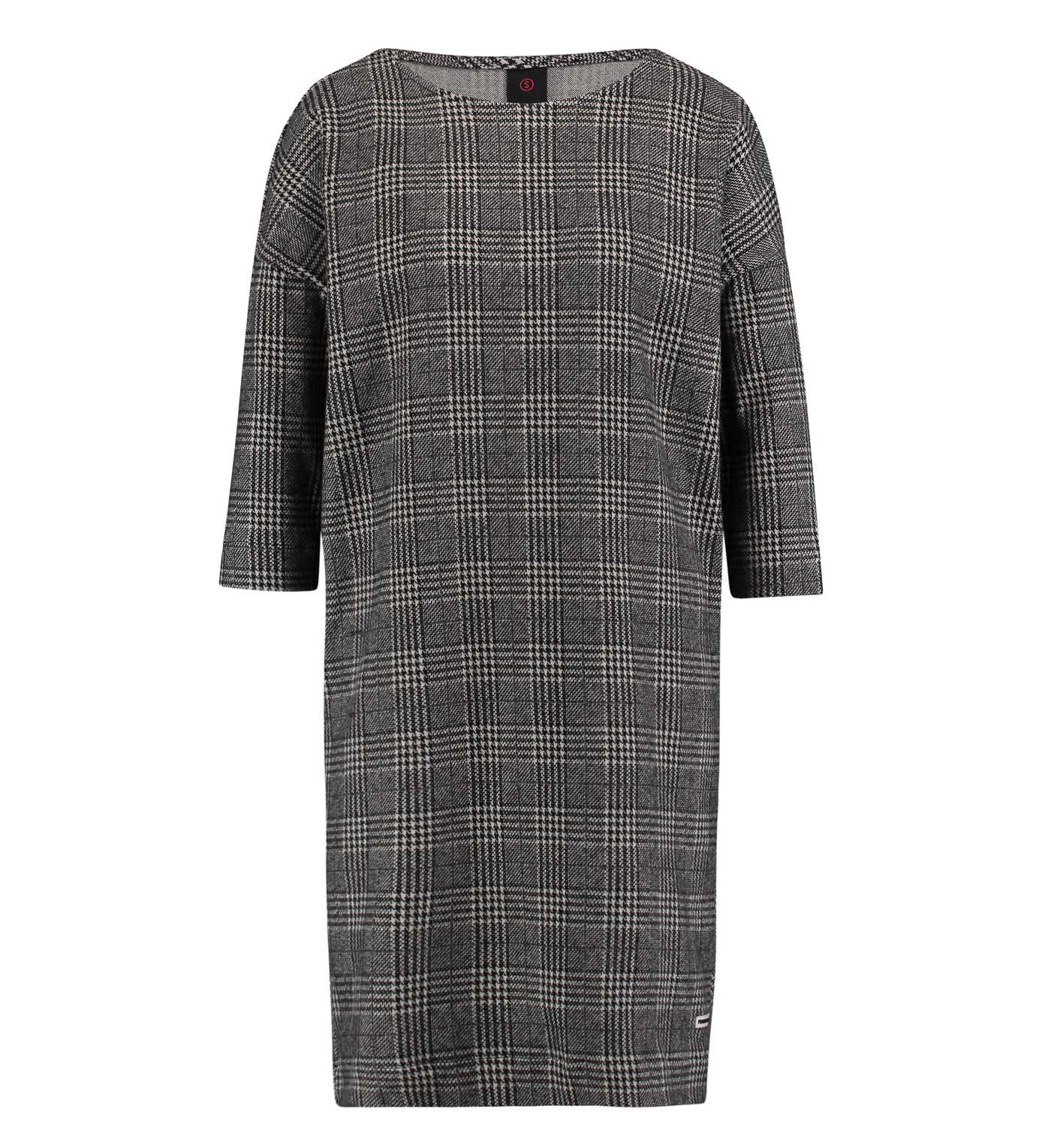 Zwart wit geruiten dames jurk Penn & Ink - W18F382
