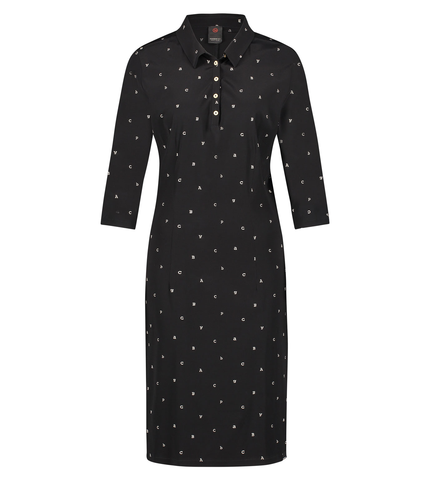 Zwarte dames overhemd jurk Penn & Ink - W19N561