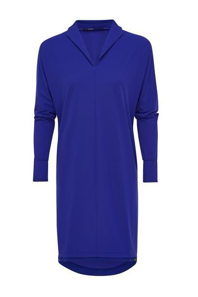 Blauwe dames jurk/tuniek Penn & Ink - W17N196ltd
