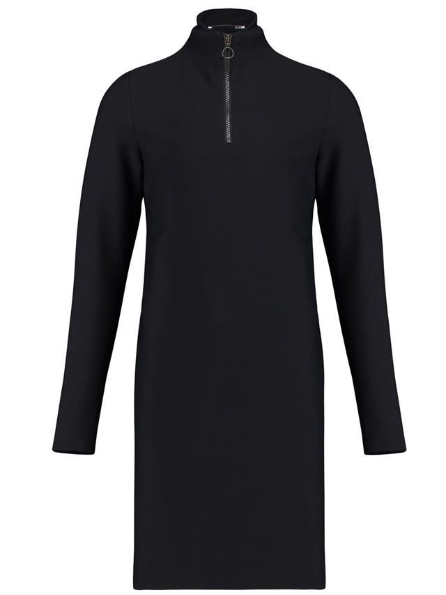 Zwarte dames jurk met rits Penn & Ink - W18N348