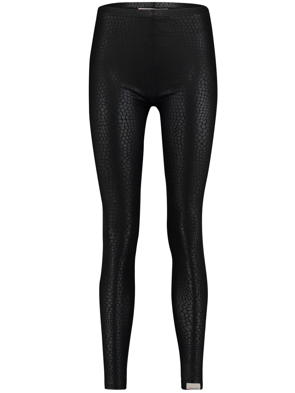 Zwarte dames legging met allover schubben print Penn & Ink - W18C034
