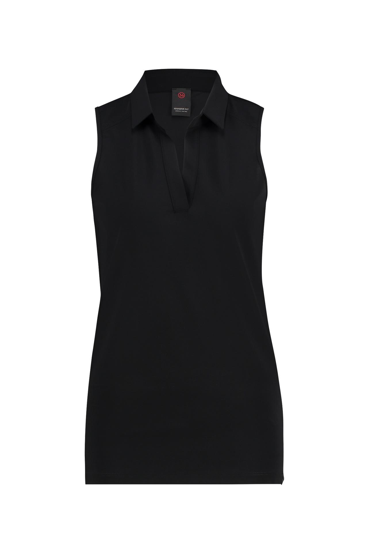 Zwarte mouwloze dames polo Penn&Ink - S19LTD Reno
