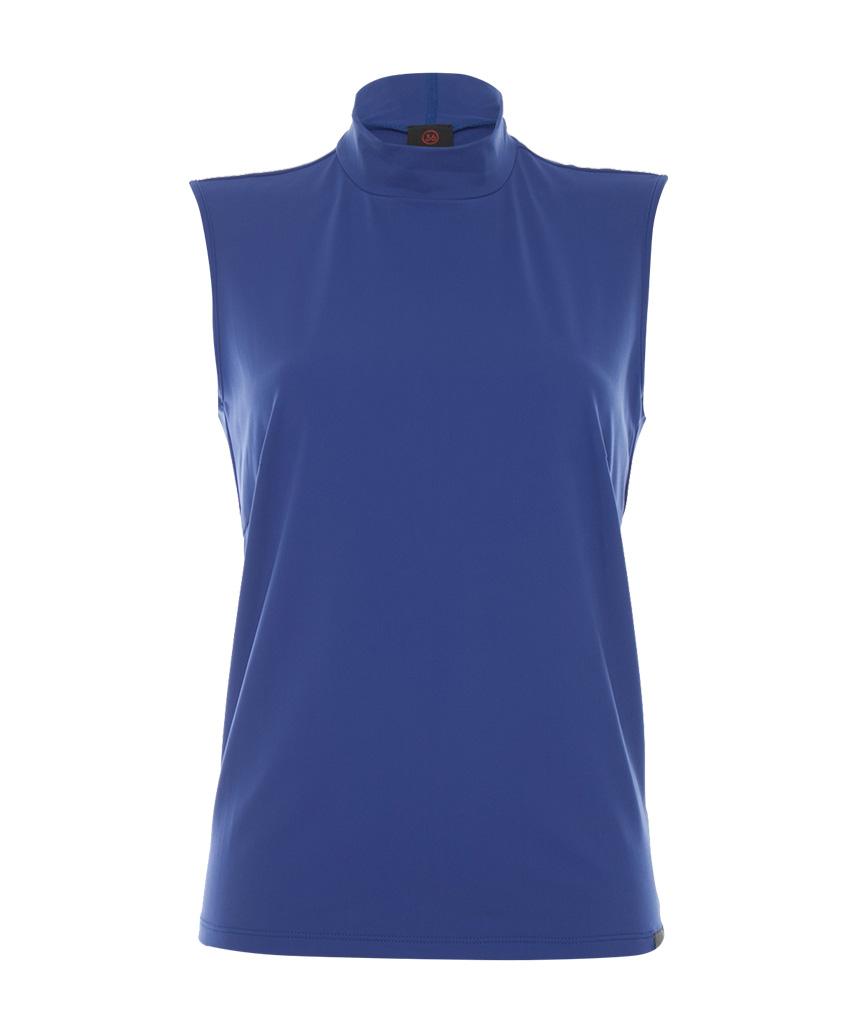 Blauwe mouwloze dames top Penn & Ink - W19N579