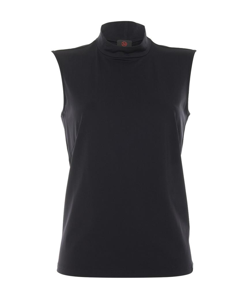 Zwarte mouwloze dames top Penn & Ink - W19N579
