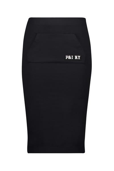 Zwarte dames rok Penn & Ink - W17F057
