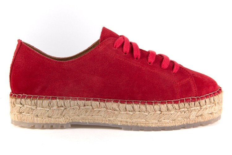 Rode dames veter espadrille Shabbies - 151020004