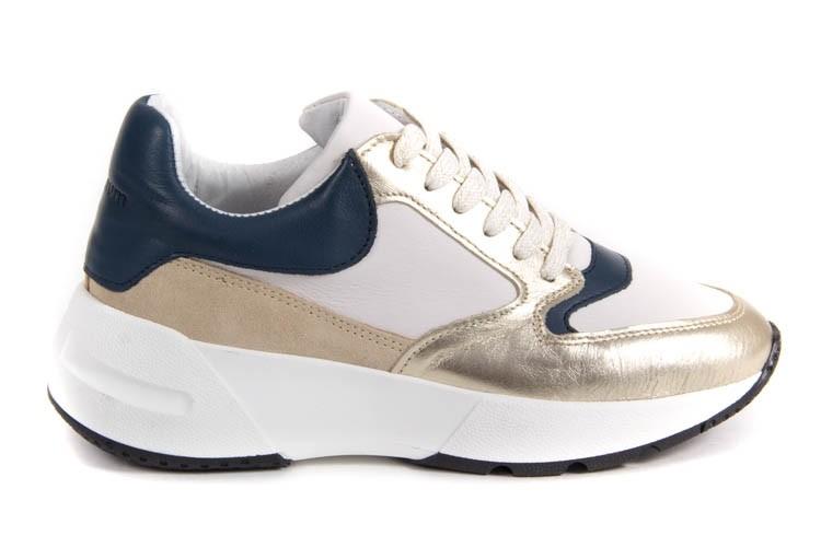 Blauw/wit/gouden sneakers Summum - 8S645-8299