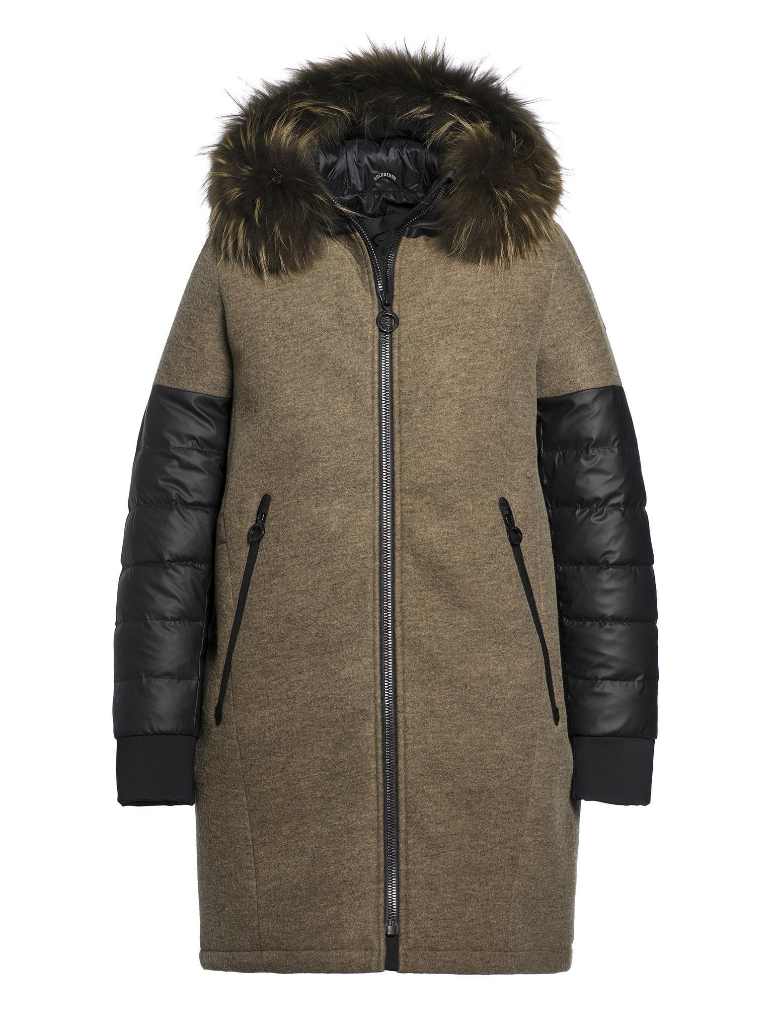 Groene dames winterjas Goldbergh - Lana Fur Coat