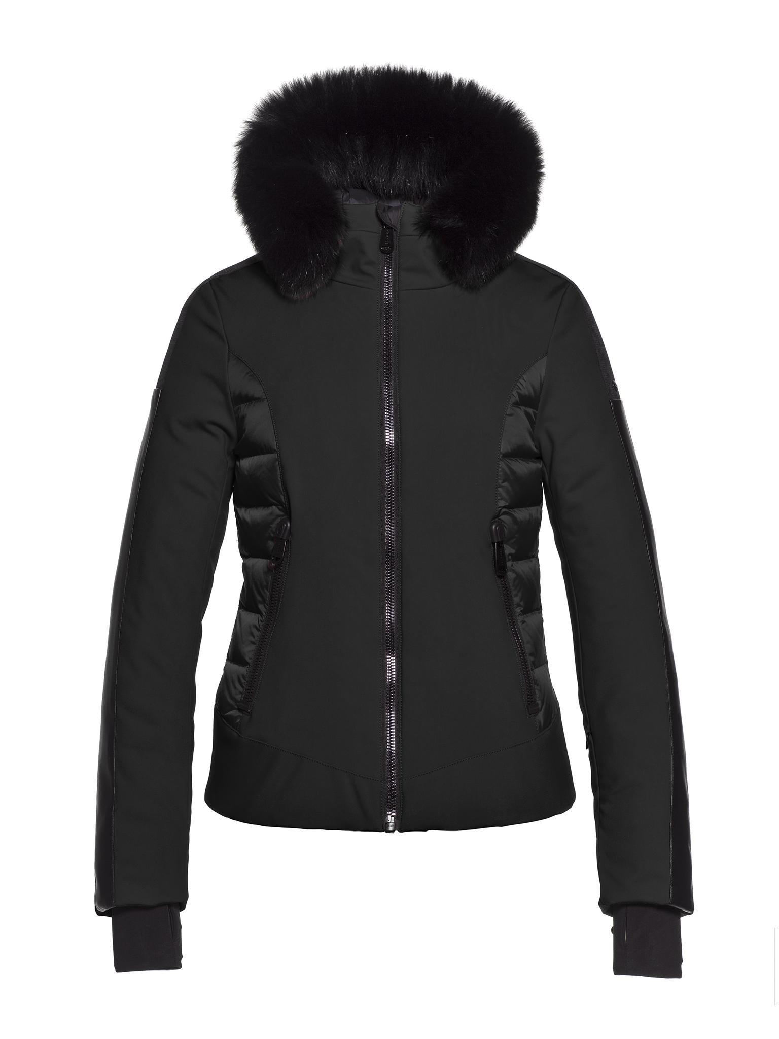 Zwarte dames winterjas Goldbergh - Kaja - GB16-11-193-900