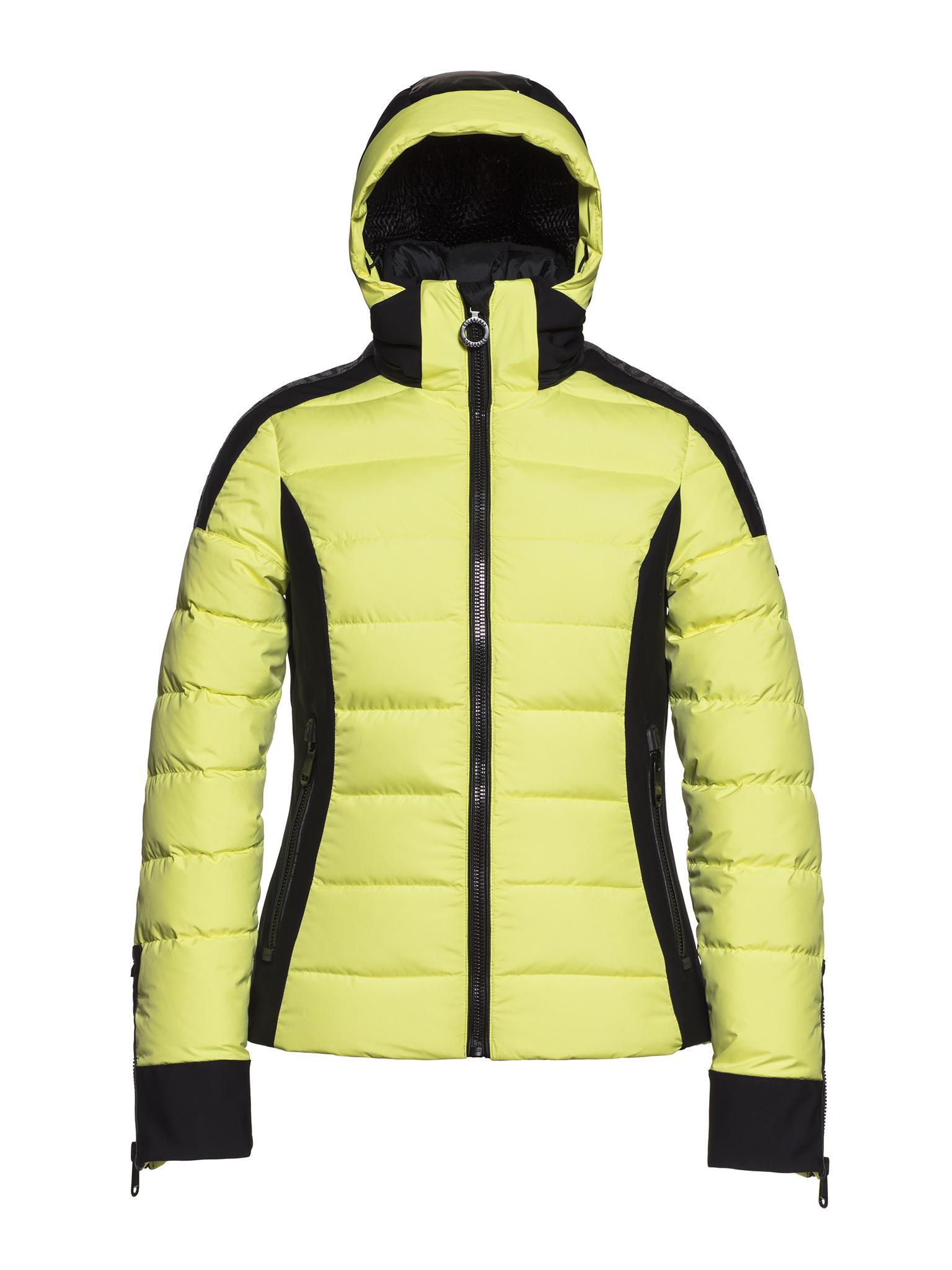 Neon gele dames winterjas Goldbergh - Almeta - GB02-10-193-104