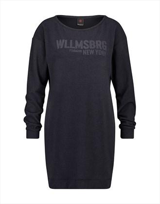 Donkerblauwe dames sweat dress Penn & Ink - W17F026