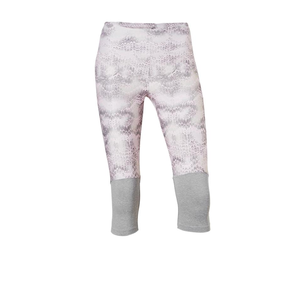 Grijs roze geprinte dames sport legging - Flattering