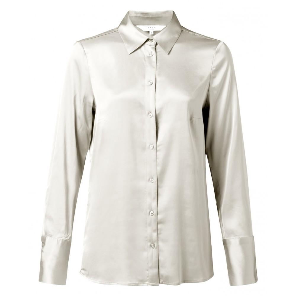 Lichte satijnen dames blouse YAYA - 110105-922, 99186