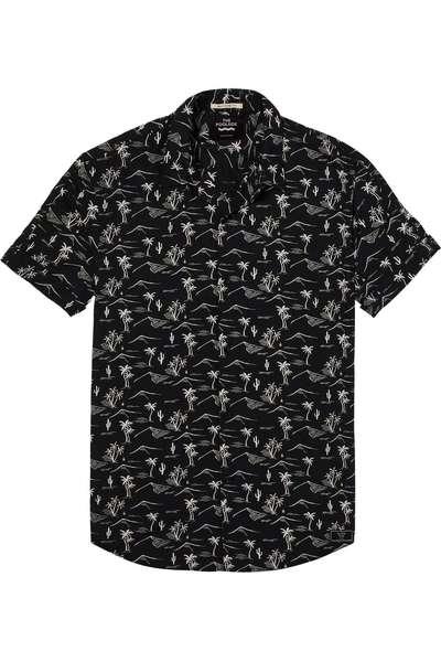 Zwart wit geprinte heren blouse km Scotch & Soda - 142559