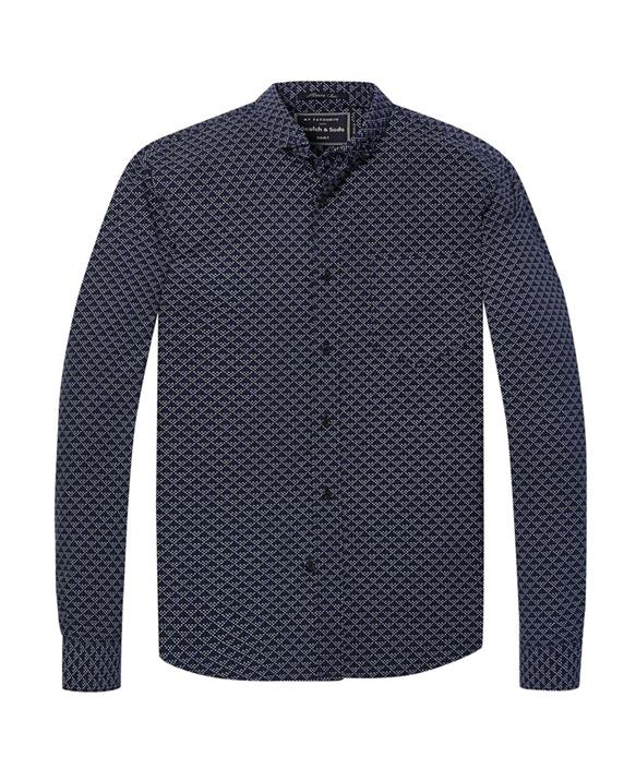 Blauw overhemd heren Scotch & Soda - 145399 - 0217