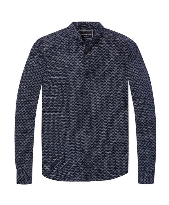 Blauw overhemd heren Scotch & Soda - 145399 - 0217