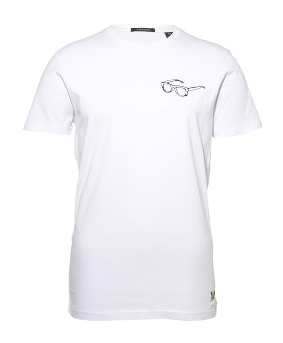 Wit heren shirt met detail op borst Scotch & Soda - 142694