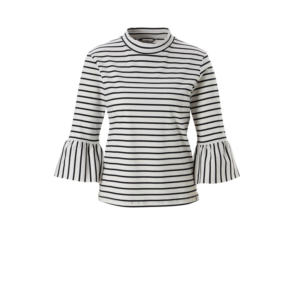 Zwart wit gestreepte dames sweater - 144995