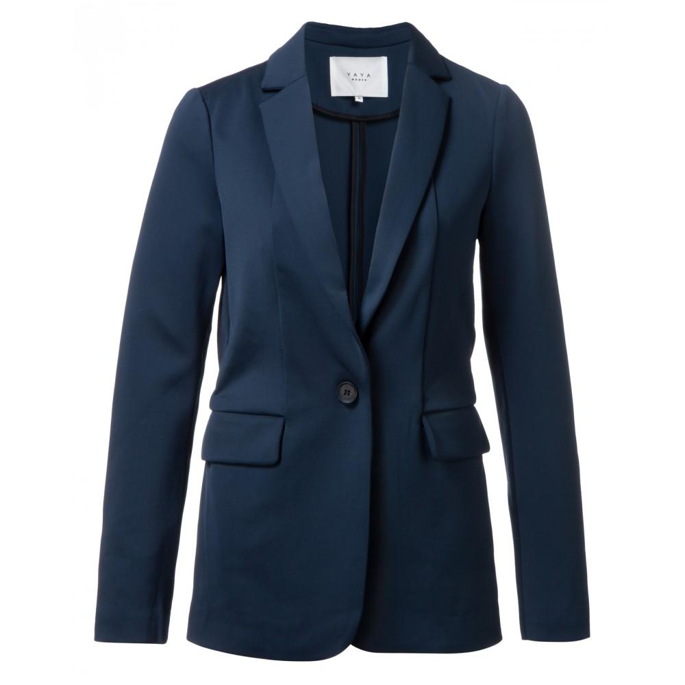 Donkerblauwe dames blazer YAYA 150943-922, 93922