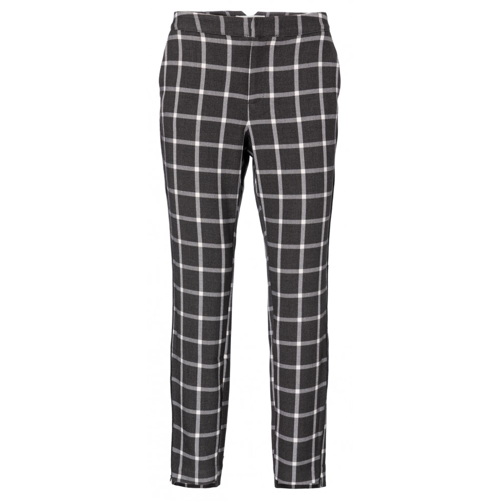 Grijs geruite dames pantalon Yaya - 121105