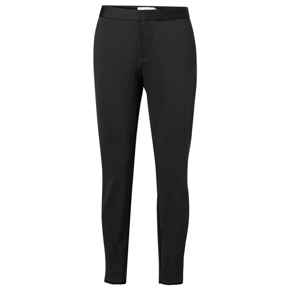 Zwarte slim-fit broek van jersey YAYA - 121941-922 - 00001