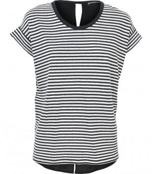 Zwart-wit gestreept t-shirt Summum 3s3859 990