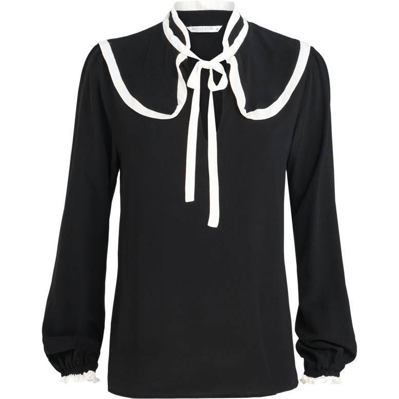 Donkerblauwe dames blouse met witte details Summum - 2S2083-10644