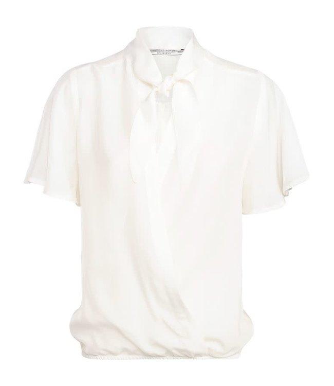 Witte dames top met striklint Summum - 2S2325-10963
