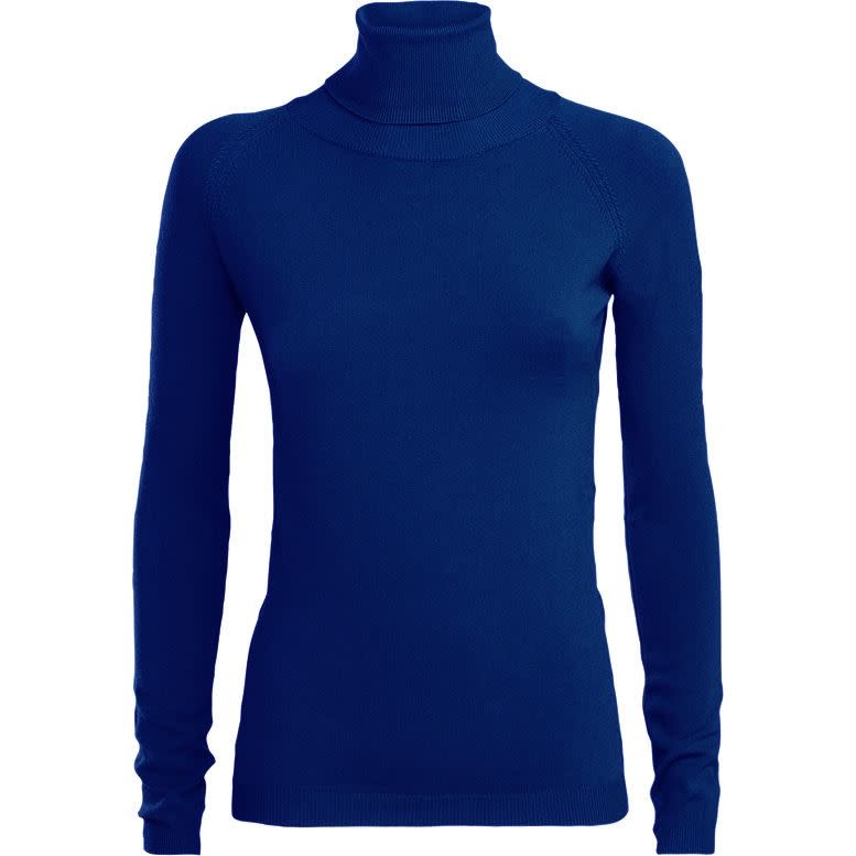 Blauwe dames trui met col Summum - 7S5442-7723
