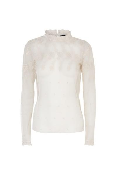 Beige kanten dames blouse Summum - 3s4048