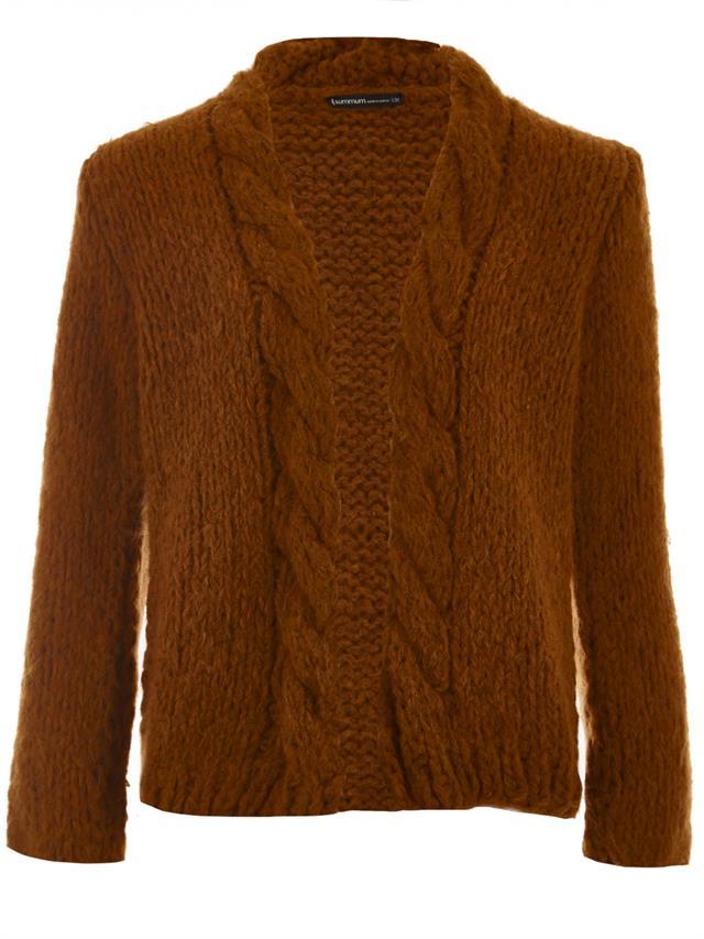 Oranje gebreid dames vest Summum - 7s5243