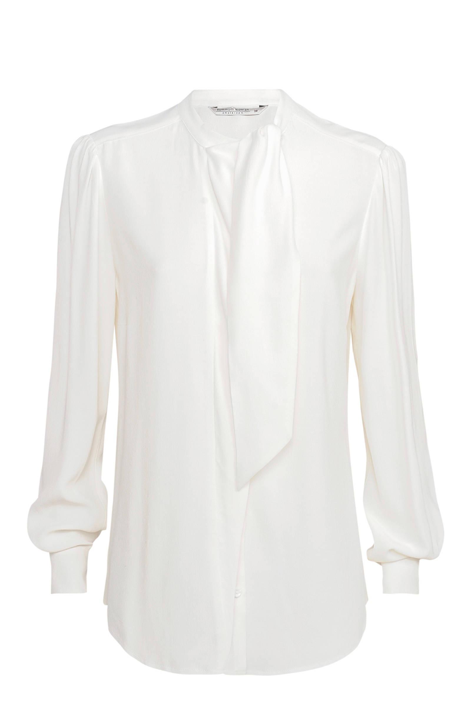 Witte dames blouse met lint Summum - 2S2280-10963