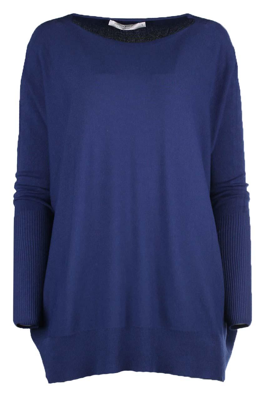 Blauwe dames trui met ronde hals Summum - 7S5443-7723