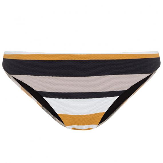 2d893a55bf7030 Geel/zwart/wit gestreepte dames bikini Cyell - 910205